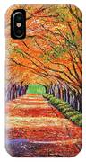 Autumn Tree Lane IPhone Case