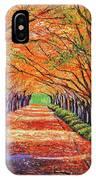 Autumn Tree Lane IPhone Case