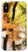 Autumn Trees In The Fog IPhone Case
