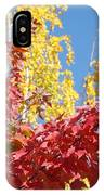 Autumn Trees Red Yellow Fall Tree Blue Sky Landsape IPhone Case