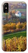 Autumn View Of Church On The Rural Hills IPhone Case
