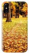 Autumn Walk In Spokane IPhone Case