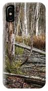 Autumn Woodland Marsh Scene IPhone Case