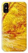 Autumn Woodland Stream Pennsylvania Digital Art IPhone Case