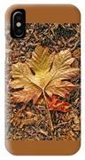 Autumn's Textured Maple Leaf IPhone Case