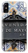 Avenida 5 De Mayo IPhone Case