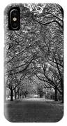 Avenue Of Trees Monochrome IPhone Case