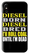 Awesome Diesel Design Born And Bred IPhone Case