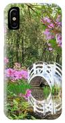 Azaleas And Bridge In Magnolia Lagoon IPhone Case