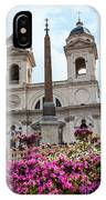Azaleas On The Spanish Steps In Rome IPhone Case