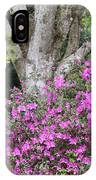 Azaleas With Tree IPhone Case