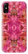 Aztec Kaleidoscope - Pattern 009 - Crimson IPhone Case