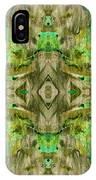 Aztec Kaleidoscope - Pattern 009 - Dark Olive IPhone Case