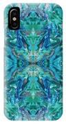 Aztec Kaleidoscope - Pattern 018 - Ocean IPhone Case