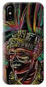 Aztec Skull Warrior IPhone Case