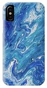 Azure Transfusions Of Ocean Waves Fragment  IPhone Case