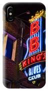 B B Kings On Beale Street IPhone Case