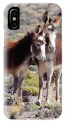 Baby And Mama Burro IPhone Case