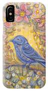 Baby Blue Bird Garden IPhone Case