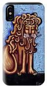 Baby Blue Byzantine Lion IPhone Case