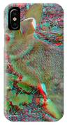 Baby Bunny - Use Red-cyan 3d Glasses IPhone Case