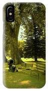 Baby Carriage In A Park IPhone Case