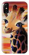 Baby Giraffe IPhone X Case
