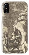 Bacchanal With Figures Carrying A Vase IPhone Case