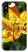Back-lit Yellow Tiger Lily IPhone Case