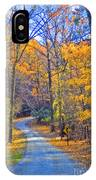 Back Road Fall Foliage IPhone Case