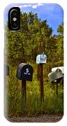 Back Road Mailboxes IPhone Case