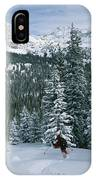 Backcountry Skiing Into An Evergreen IPhone Case