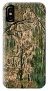 Backlit Moss-covered Trees Caddo Lake Texas IPhone Case
