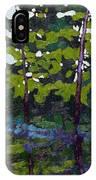 Backlit Pines IPhone Case