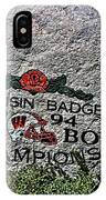 Badgers Rose Bowl Win 1994 IPhone Case