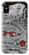 Badgers Rose Bowl Win 2000 IPhone Case