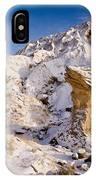 Badlands Hoodoo In The Snow IPhone Case