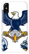 Bald Eagle Hold Scales Earth Money Retro IPhone Case