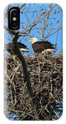 Bald Eagles Working On The Nest   3682 IPhone Case
