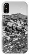Bald Mountain Rock Formation In Black And White IPhone X Case