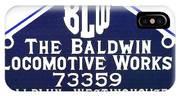 Baldwin Diesel Builders Plate IPhone Case