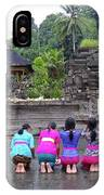 Bali Temple Women Bowing IPhone X Case