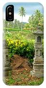Balinese Rice Field Shrines IPhone Case