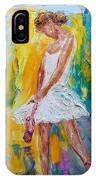 Ballerina Before The Dance IPhone Case