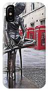 Ballerina Statue And Telephone Boxes IPhone Case