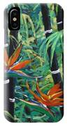 Bamboo And Birds Of Paradise IPhone Case