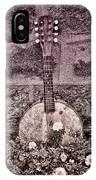 Banjo Mandolin On Garden Wall IPhone Case