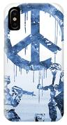 Banksy Soldiers-blue IPhone Case
