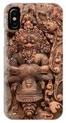 Banteay Srei Bas Relief Carvings - Cambodia IPhone Case