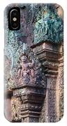 Banteay Srey Temple Bas Relief Details IPhone Case